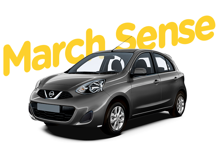 Renting Colombia Nissan March Sense