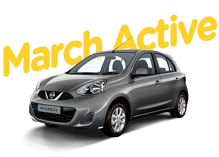 Renting Colombia Nissan March Active