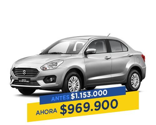 Renting Colombia Suzuki swift dzire